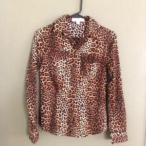 👚Michael Kors Leopard Blouse